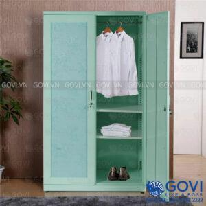 Tủ sắt quần áo hoa văn QA01N