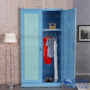 Tủ sắt quần áo hoa văn QA01Q