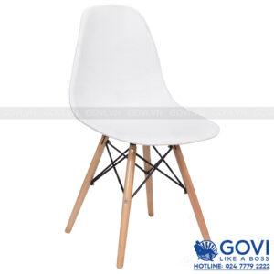 Ghế cà phê lưng nhựa màu trắng CF1-T