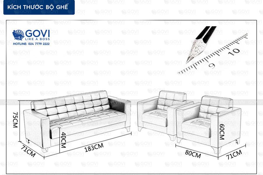 Sofa da hiện đại Sofa01-18 màu đen 6