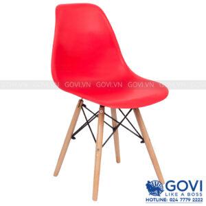 Ghế cà phê lưng nhựa màu đỏ CF1-D