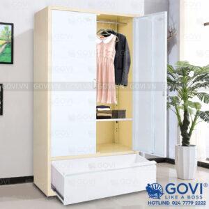 Tủ sắt đựng quần áo QA01K-V