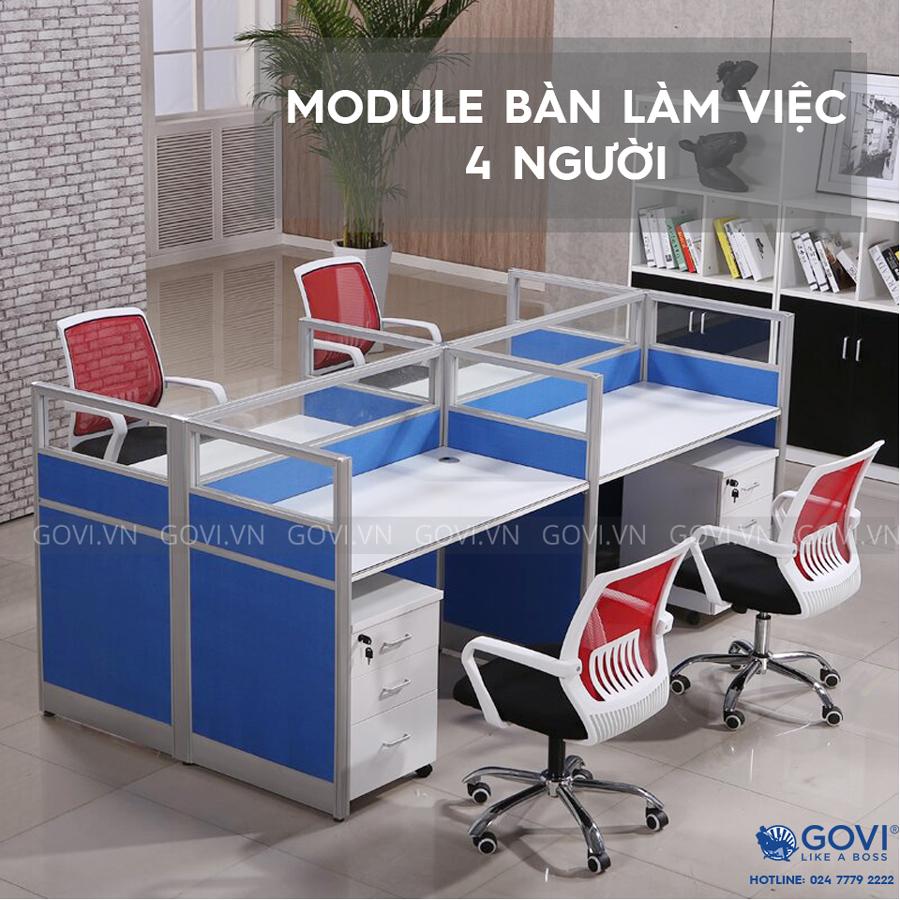 Module bàn làm việc 4 người Classic CUM3-1
