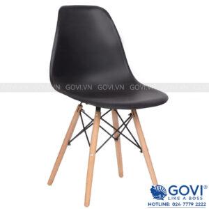 Ghế cà phê lưng nhựa màu đen CF1