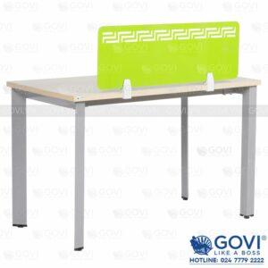 Vách ngăn mica bàn làm việc màu xanh