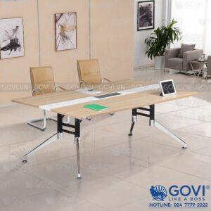 Bàn họp văn phòng chân hợp kim cao cấp 2m Iris IR2010-06
