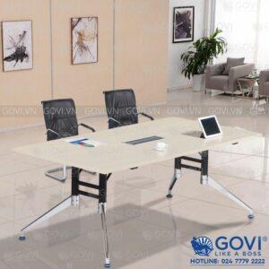 Bàn họp văn phòng chân hợp kim cao cấp 2m Iris IR2010-14