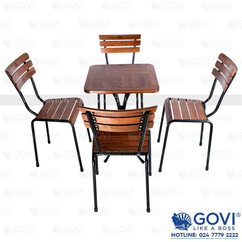 Bàn ghế cafe gỗ thông đẹp, thiết kế độc đáo dành riêng cho văn ...