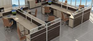 Ứng dụng của vách ngăn kính trong phòng làm việc