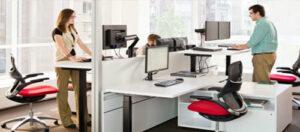 Những ý tưởng thiết kế văn phòng làm việc với bàn làm việc đứng