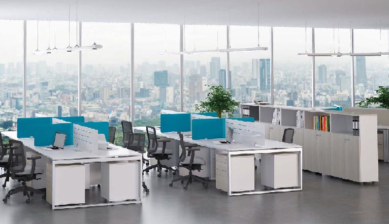 Thiết kế văn phòng làm việc với gam màu trung lập