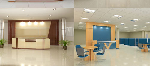 Tư vấn thiết kế nội thất văn phòng khu vực quầy lễ tân
