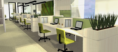 """Không gian văn phòng """"xanh"""" hiệu quả làm việc cao hơn"""