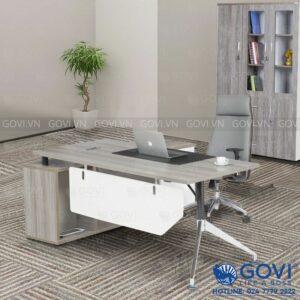 Combo bàn giám đốc kèm tủ phụ 1m8 Iris01