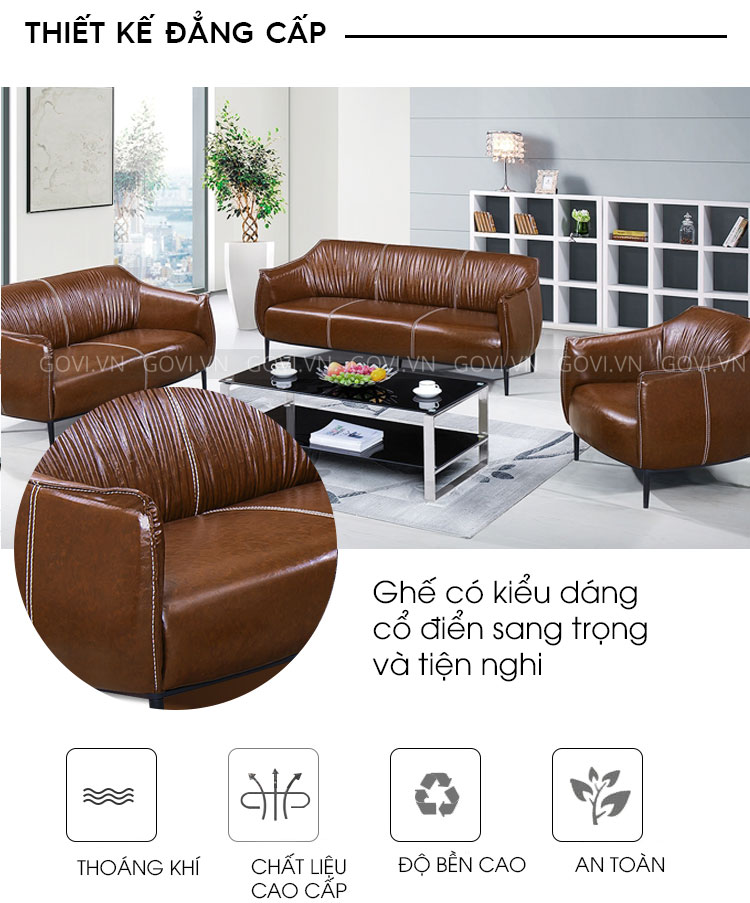 Sofa da cao cấp Sofa06-18-N2