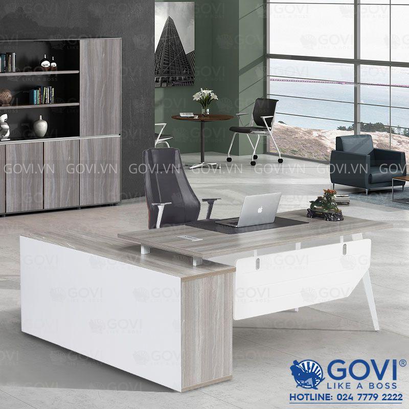 Combo bàn giám đốc kèm tủ phụ 1m8 Gaia01