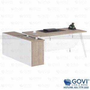 Combo bàn giám đốc kèm tủ phụ 1m8 Gaia02