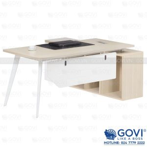 Combo bàn giám đốc kèm tủ phụ 1m8 Gaia03
