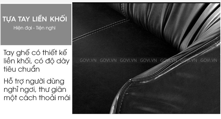 Sofa da cao cấp Sofa06-18 màu đen 5