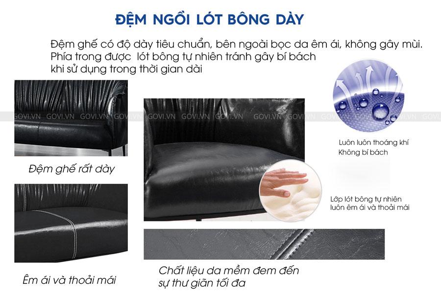 Sofa da cao cấp Sofa06-18 màu đen 4