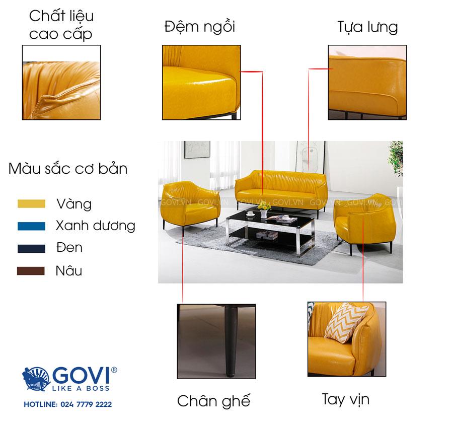 Sofa da cao cấp Sofa06-18-V2