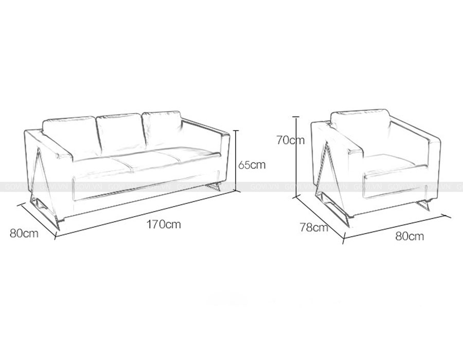 Sofa da cao cấp Sofa07-16 màu đen 6