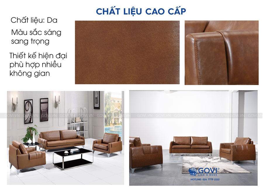 Sofa da cao cấp Sofa08-16-N3