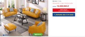 Mách bạn nơi bán ghế sofa phòng khách giá rẻ