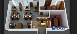 Ý tưởng thiết kế nội thất văn phòng hiện đại, chuyên nghiệp