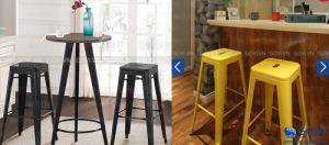 Thay đổi không gian bằng những mẫu ghế cafe sắc màu hiện đại