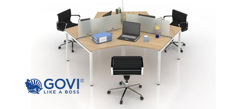 Thiết kế module vách ngăn bàn làm việc lý tưởng cho không gian văn phòng nhỏ hẹp