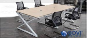 Có nên sử dụng bàn họp chân kim loại hay không?