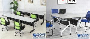 Bàn văn phòng chân sắt – xu hướng của phong cách thiết kế nội thất văn phòng hiện đại