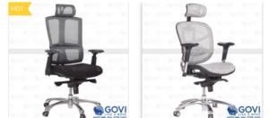 Khám phá điểm khác biệt trong mẫu ghế xoay lưới Ryan R11D màu đỏ của Govi
