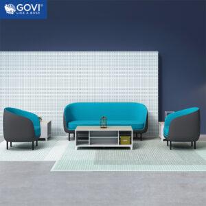 Sofa vải nỉ nhung phối da cao cấp SF10-X