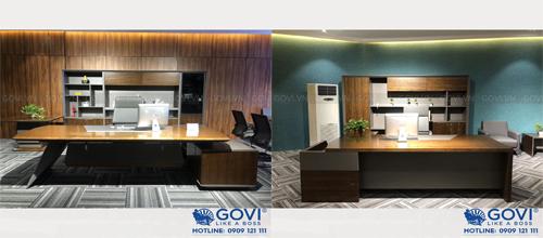 Bàn tủ lãnh đạo Monte Bianco lựa chọn cho nội thất văn phòng luxury đẳng cấp