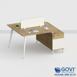 Module bàn thông minh kèm hộc tủ 2 người Gaia 1m2 GA1212