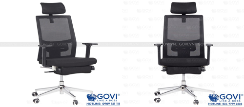 Ghế lãnh đạo lưng lưới Plato PL02: tạo cảm giác thoáng mát cho người ngồi, nâng cao hiệu quả làm việc