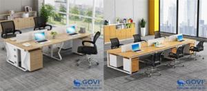 Phòng làm việc đông nhân viên nên lựa chọn loại cụm bàn nào hợp lý?