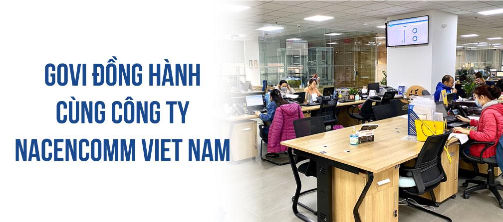 Govi lắp đặt nội thất văn phòng 500m2 tại công ty Nacencomm Việt Nam