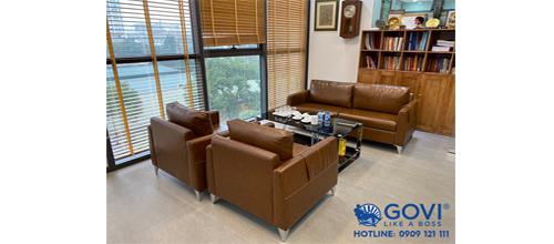 Sofa da nhập khẩu 100% sản phẩm cao cấp của Govi Furniture