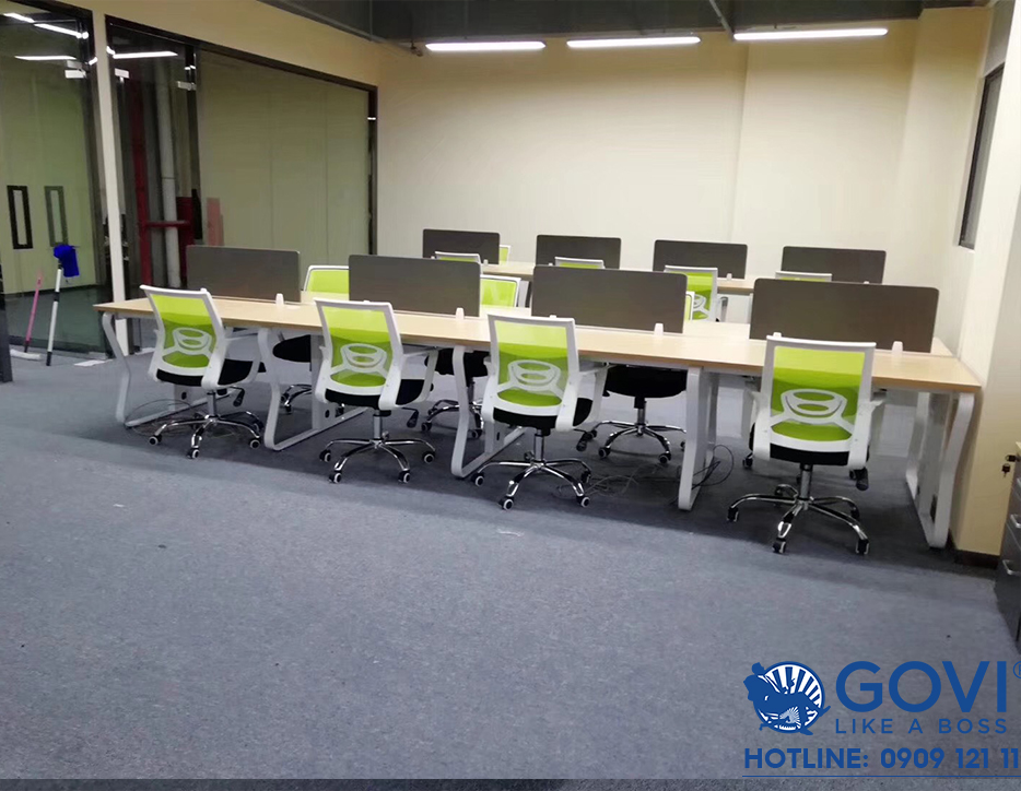 Dự án lắp đặt khung bàn Atlas – sự đồng bộ trong nội thất văn phòng