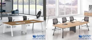 Nên lựa chọn bàn họp chân sắt hay bàn họp gỗ?