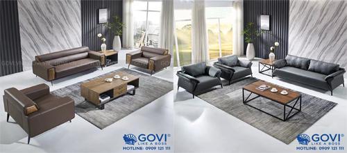 Sofa da cao cấp và bàn trà: sự kết hợp độc đáo, hoàn hảo cho mọi văn phòng