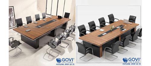 Phòng họp rộng nên chọn mẫu bàn họp nào sang trọng?