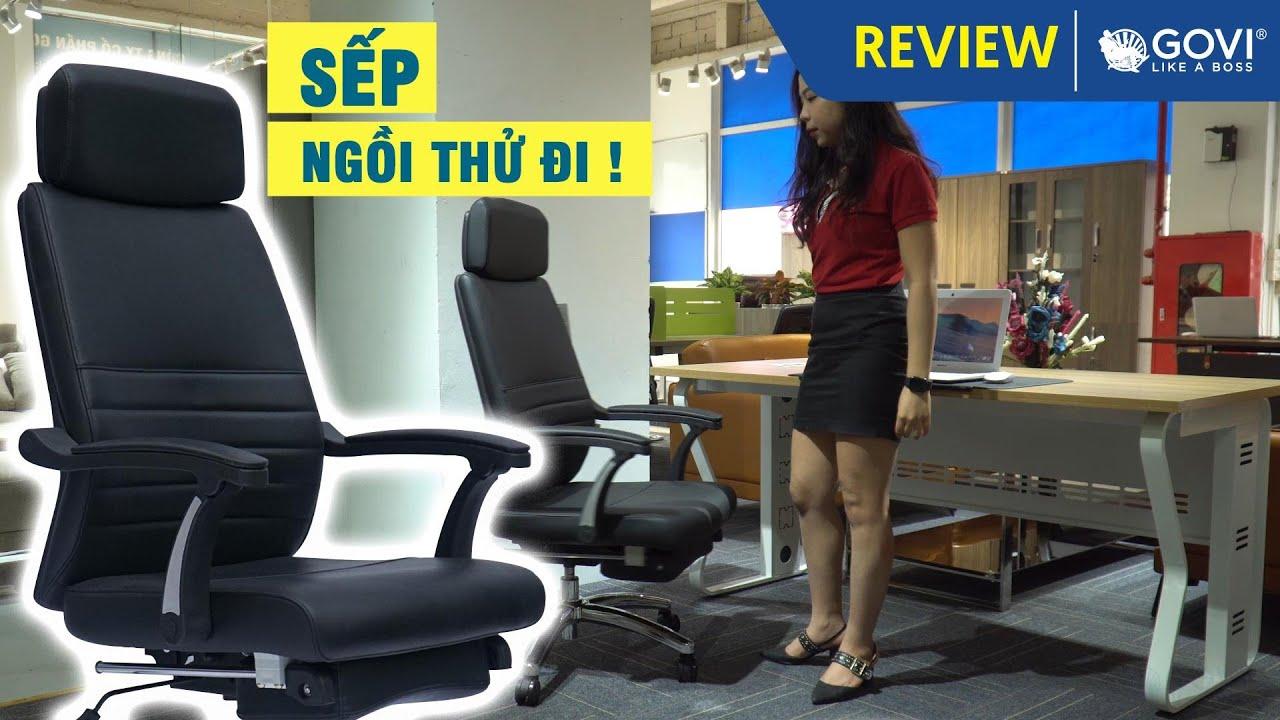 """""""Ngồi là phải mua"""" – siêu phẩm ghế lãnh đạo da PU Titan T06 hiện đại & đẳng cấp"""
