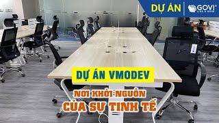 Dự án thiết kế lắp đặt nội thất văn phòng Công ty Vmodev