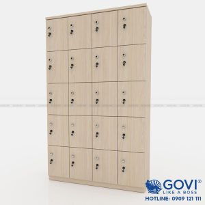 Tủ locker gỗ 20 cánh 4 khoang LKG20C4K