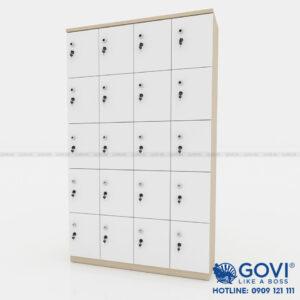 Tủ locker gỗ 20 cánh 4 khoang LKG20C4K-T