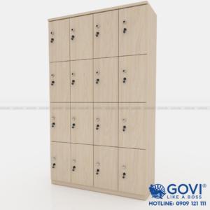 Tủ locker gỗ 16 cánh 4 khoang LKG16C4K
